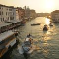 写真: 朝焼けのベネチア グランドカナル(大運河)