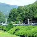 緑をかき分け松本へ向かうE351型特急スーパーあずさ号