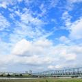 四つ木橋を渡る京成電車