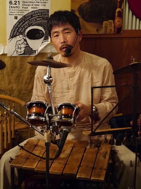 Photos: 立松正宏さんのライブ~ ビストロde麺酒場 燿@東中野7 2015.06.21