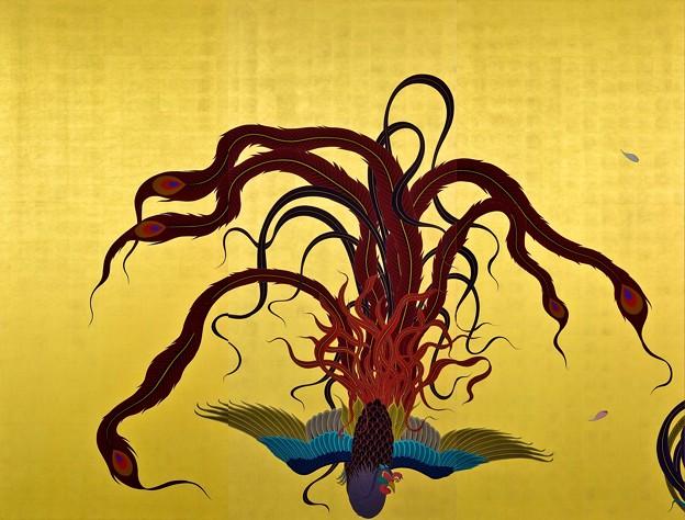 「襖絵 鳳凰」 念佛宗(念仏宗)無量寿寺 佛教之王堂  社寺仏教美術 nenbutsushu006