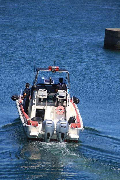 海のパトロールへ出航
