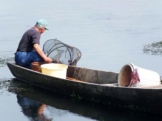 藻屑蟹漁1 獲れたかな?
