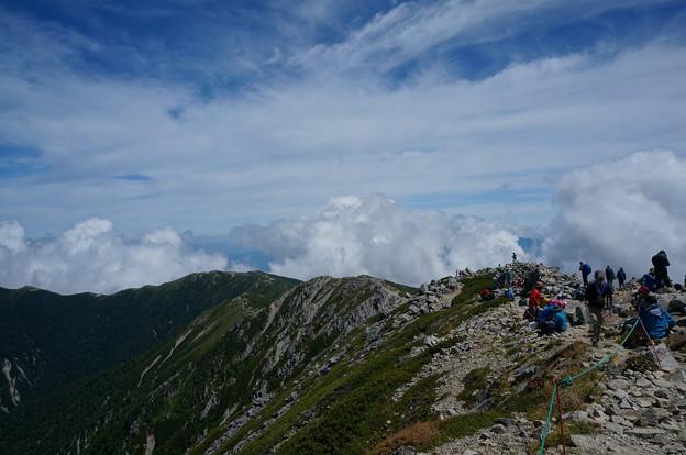 木曽駒ケ岳からの馬の背