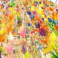Photos: 盛岡七夕まつり 千羽鶴