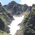 写真: 夏の雪渓