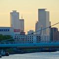 写真: 御陵橋(堀川)の上から見た、夕暮れ時の名駅ビル群 - 3