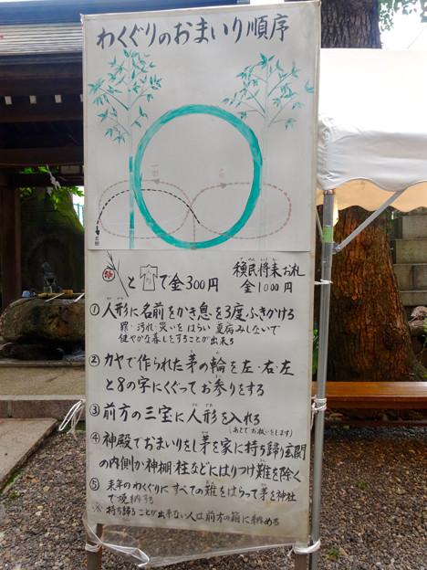 洲崎ちょうちん祭 2015 No - 12:「わくぐり」(茅の輪くぐり)のお参り順序