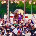 写真: 春日井市民納涼まつり 2015 No - 19:舞台の上で盆踊りする人たち