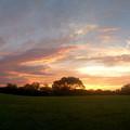 写真: 夏の夕焼け - 5(パノラマ)