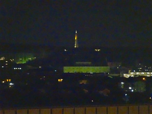 エアポートウォーク名古屋 展望デッキから見た、夜の瀬戸デジタルタワー - 2