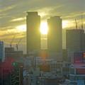 写真: 愛知芸術文化センターから見た、夕暮れ時の名駅ビル群 - 4