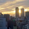 写真: 愛知芸術文化センターから見た、夕暮れ時の名駅ビル群 - 7