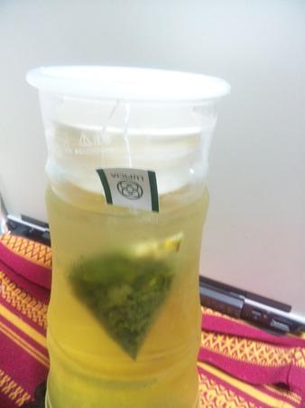 今年初の水出し「グレープフルーツ緑茶」