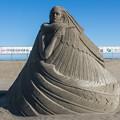 写真: 砂の彫刻 昼間編