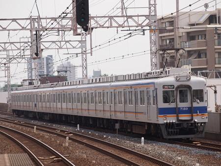 南海7100系空港急行 南海本線粉浜駅01