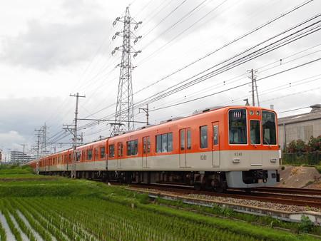 阪神8000系直通特急 山電本線藤江~林崎松江海岸01