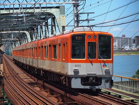阪神8000系急行    阪神本線淀川駅05