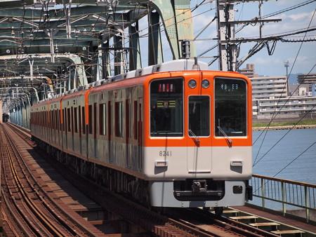 阪神8000系特急 阪神本線淀川駅