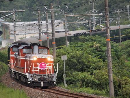 DD51 寝台特急トワイライトエクスプレス 伯備線総社~豪渓04