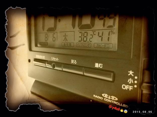 38.2℃~生きてきた中で1番酷い暑さが連日