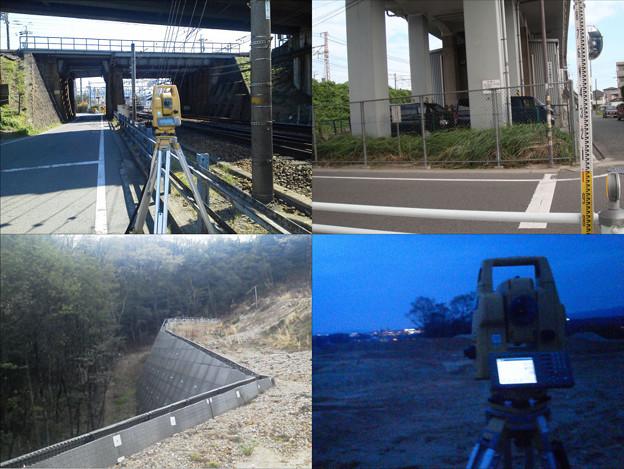 やっと解放ー。朝一は某私鉄の西枇〇島駅付近で現況測量。電車の振動が辛い(xx) その後は某宅地造成地へ。擁壁の出来型測量と道路CLのトンボ丁張・・・どんどん暗くなって必死でスタッフ見る始末。両現場作業は今日で何とか終わり!?