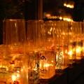 写真: キャンドルの灯