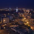 写真: 横浜ベイブリッジ夜景