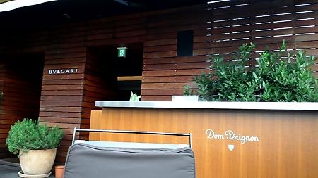 テラス入口@BVLGARI La Terrazza Lounge