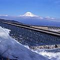 富士川にて