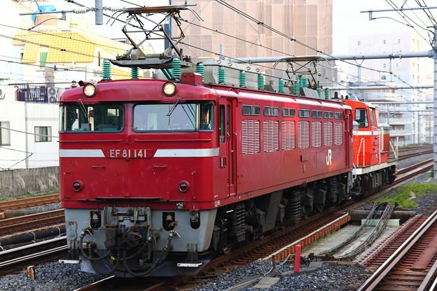 EF81-141号機牽引配9722レ