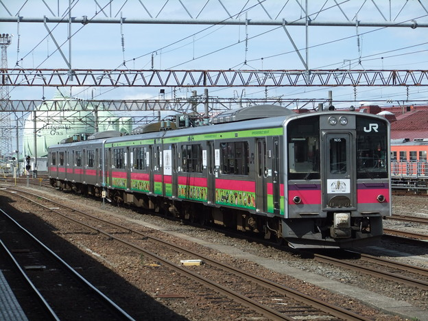 Photos: 奥羽線701系0番台 N35編成他4両編成【奥羽本線全通110周年記念】