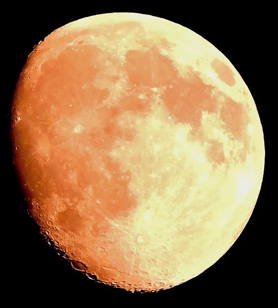 真夏に見る月・・十三夜   07:28