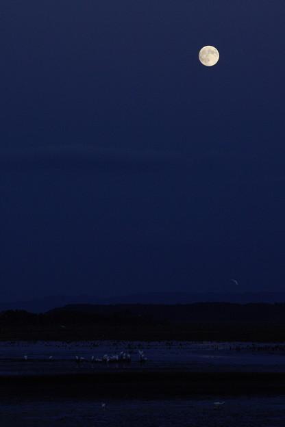 望月の夕暮れ