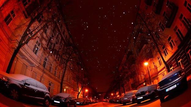 通りの星空