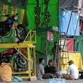 Photos: オートバイサーカス準備中