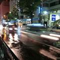 「第一回川柳大会」......雨の繁華街