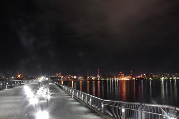 青森港北防波堤(青森ベイ・プロムナード)-8- 夜景