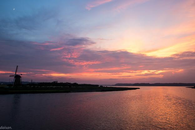 印旛の夕景