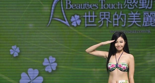 退役小姐が参加のビキニコンテスト 今日の大陸小姐 9-16 (1)