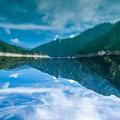 写真: 逆さ水鏡