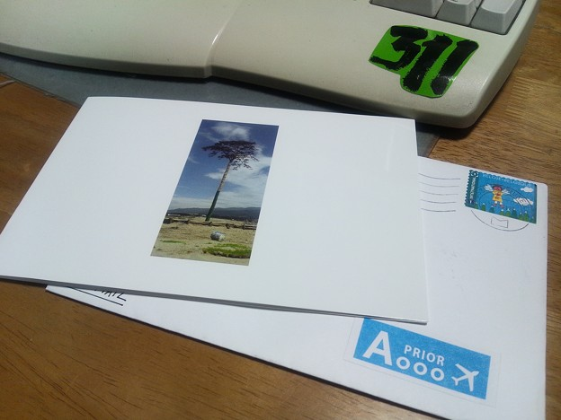 写真: 在ベルギー王国日本国大使館からのグリーティングカード
