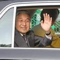 写真: 両天皇を迎えて