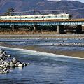 酒匂川を渡る小田急電鉄 8000形