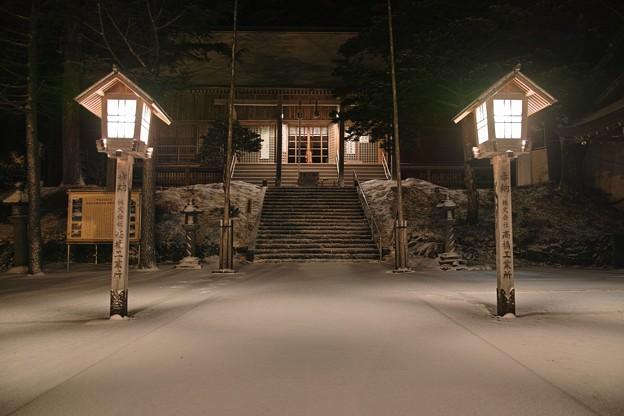 18.大雪の降り積もった鳥海山大物忌神社 境内(無修正)