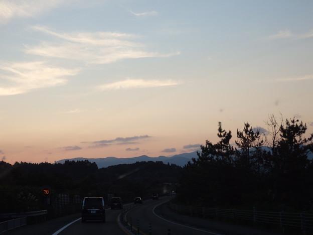 夕暮の秋田
