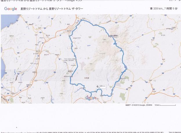Photos: 写真00417 9/2の走行コース・概略