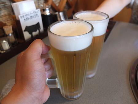 焼肉レストラン 慶州 生ビール(中)¥518*2