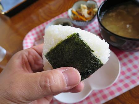 田舎喫茶 だんだんどうも 竹の子汁定食 塩おにぎり
