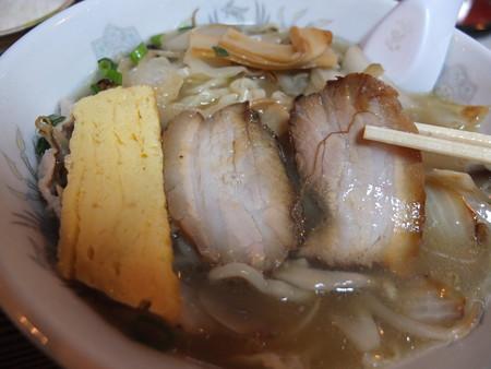 金井旅館 塩の道食堂 塩の道特製塩ラーメン チャーシューアップ
